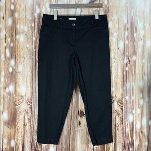 Loft Black Curvy Crop Pants 10 Curvy